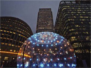 Winter lights at Canary Wharf 2018