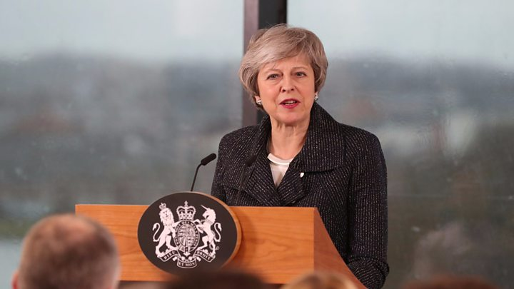 May defends Brexit strategy in Northern Ireland