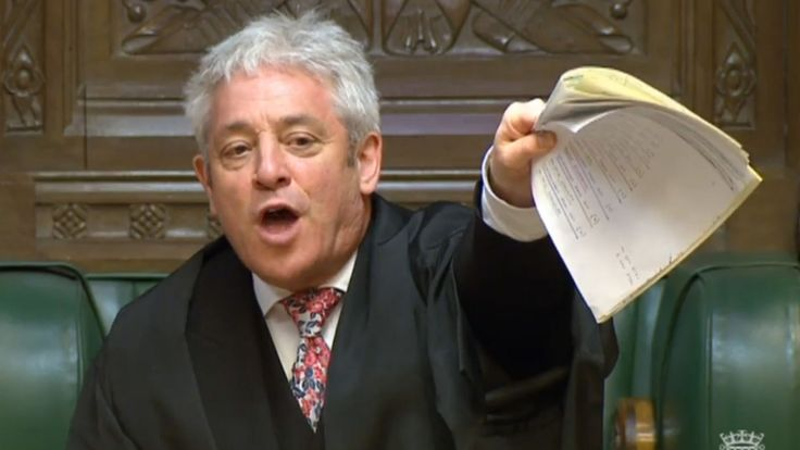 Bercow gives MPsa Brexit blocking