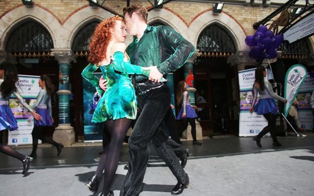 Riverdance performed during the visit of Pope Francis to Ireland