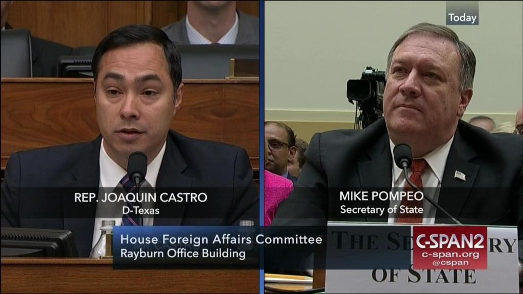 Meeks and Pompeo Get in Heated Exchange Over Diplomatic Security
