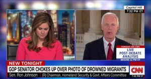 GOP Senator chokes up over photo of drowned migrants
