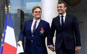 Elton John receives France's highest honour after Paris concert